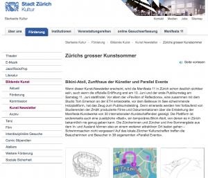 Presse Stadt Zürich
